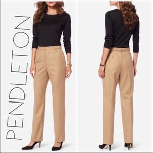 NWT Pendleton camel wool trouser pants plus 20 W